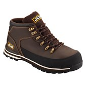 JCB 3CX Waterproof Safety Hiker Brown