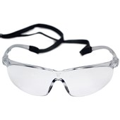 3M Tora Clear Safety Glasses with Adjustable Cord 71501-00001M - Anti Scratch & Anti Fog Lens