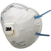 3M 8822 FFP2D Valved Cup-Shaped Respirators (Pack 10)