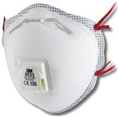 3M 8833 FFP3DR Valved Cup-Shaped Respirators (Pack 10)