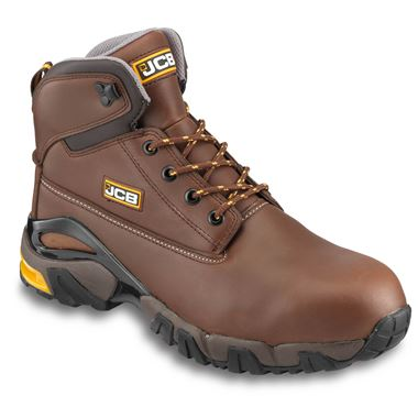 JCB 4X4 Waterproof Safety Boot Tan