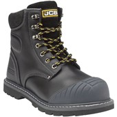 JCB 5CX+B Black Side Zip Safety Boot S1P