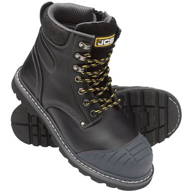 JCB 5CX Side Zip Honey Leather Steel Toe Cap High Quality Work Safety Boots