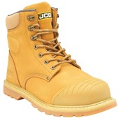 JCB 5CX+H Honey Side Zip Safety Boot S1P