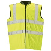 High Visibility Padded Bodywarmer Yellow