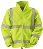 High Visibility Luxury Fleece Jacket Yellow