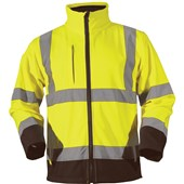 High Visibility Two Tone Softshell Jacket Yellow/Black