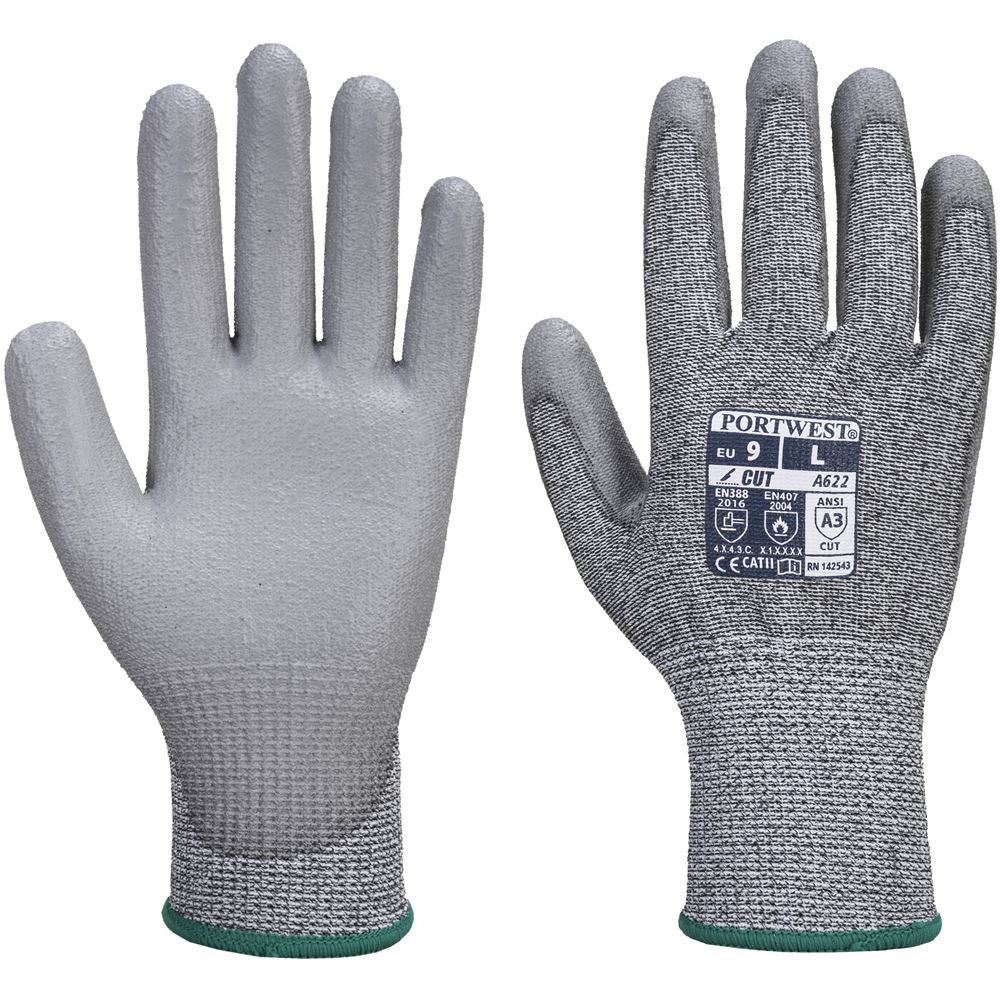 Cut Level 5 Pu Grip Gloves Safetec Direct