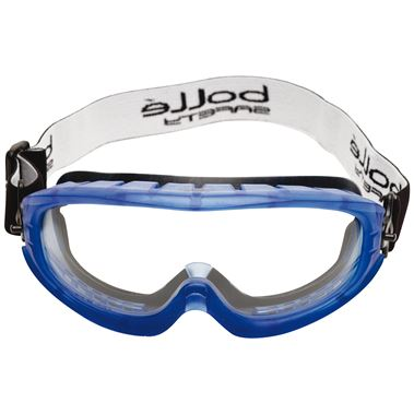 Bolle Atom Safety Goggles - Clear Platinum Anti Scratch & Anti Fog UV Lens