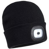 Portwest B029 Beanie Hat LED Head Light (Various Colours Available)