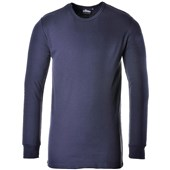 Portwest B123 Thermal Long Sleeve T-Shirt Navy