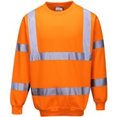 Portwest B303 Orange Hi Vis Sweatshirt