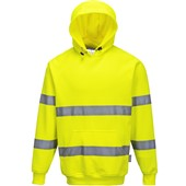 Portwest High Visibility Hooded Sweatshirt Yellow