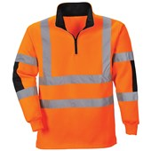 Portwest Hi-Vis Rugby Shirt - Orange