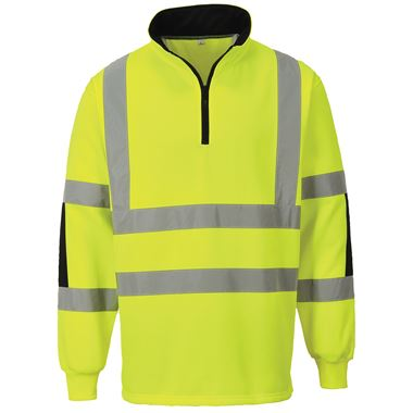 Portwest B308 Yellow Hi-Vis Rugby Shirt