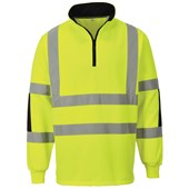 Portwest Hi-Vis Rugby Shirt - Yellow