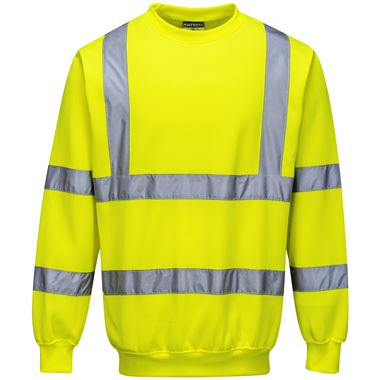 Portwest High Visibility Sweatshirt Yellow
