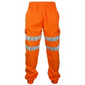 Bseen Hi Vis Orange Jogging Bottoms BSJBOR
