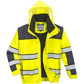 Portwest C466 Hi Vis Yellow 3-in-1 Classic Bomber Jacket
