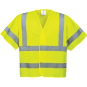 Portwest High Visibility Short Sleeved Vest Yellow