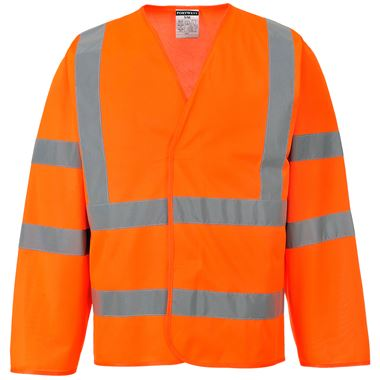 Portwest High Visibility Long Sleeve Vest GO/RT Orange