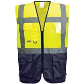 Portwest High Visibility Two Tone Executive Vest Yellow/Navy