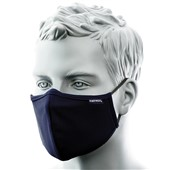 Reusable 3 Ply Anti-Microbial Fabric Face Mask Navy (Single Mask)