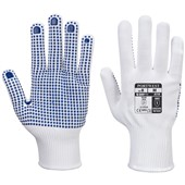 Portwest A110 Polka Dot White Work Gloves