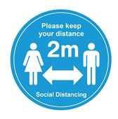 Social Distance Keep Your Distance Floor Marker