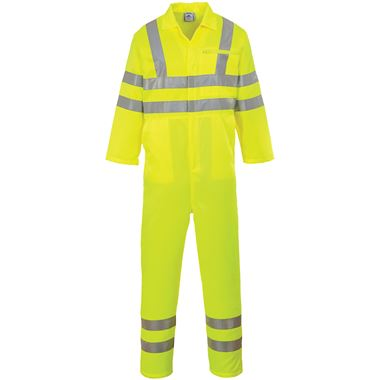 Portwest E042 Yellow Hi Vis Poly-Cotton Coverall