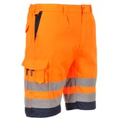 Portwest High Visibility Workwear Shorts Orange