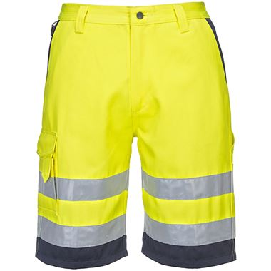 Portwest High Visibility Workwear Shorts Yellow