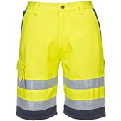 Portwest E043 Yellow Hi Vis Workwear Shorts