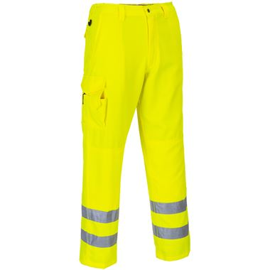 Portwest High Visibility Poly-Cotton Combat Trousers Yellow