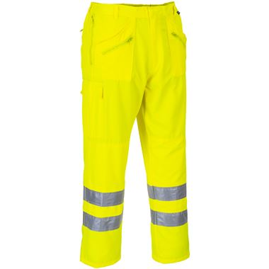 Portwest High Visibility Poly-Cotton Action Trousers Yellow
