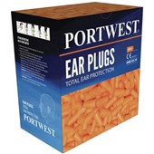 Portwest PWSafety PU Foam Ear Plug Dispenser Refill Pack (500 Pairs) - SNR 37