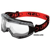 JSP EVO Double Lens Safety Goggle - Clear Extreme Anti-Mist & Anti-Scratch PremierShield UV Lens