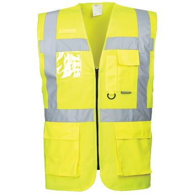 Portwest S476 Yellow Hi Vis Executive Vest