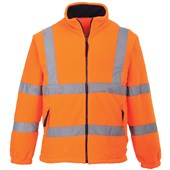 Portwest High Visibility Mesh Lined Fleece Jacket GO/RT Orange