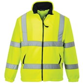 Portwest F300 Yellow Hi Vis Mesh Lined Fleece Jacket