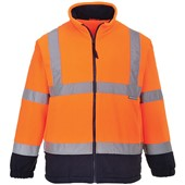 Portwest High Visibility Two Tone Lined Fleece Jacket GO/RT Orange/Navy