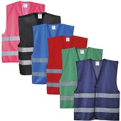 Portwest Reflective Adjustable Coloured Vest - 5-Colours