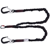 JSP FAR0405 K2 Twin Tail Elasticated Fall Arrest Lanyard - 2m Length