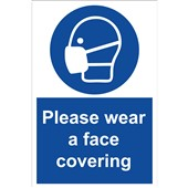 Please Wear A Face Covering Safety Sign