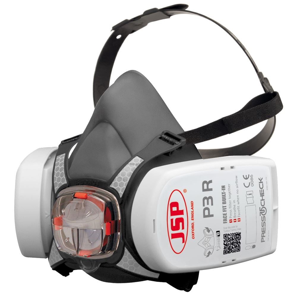 JSP Force 8 Half Mask with P3D Press To Check Filter BHT0A3-0L5-N00