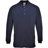 Modaflame Flame-Retardant Anti-Static Long Sleeve Polo Shirt