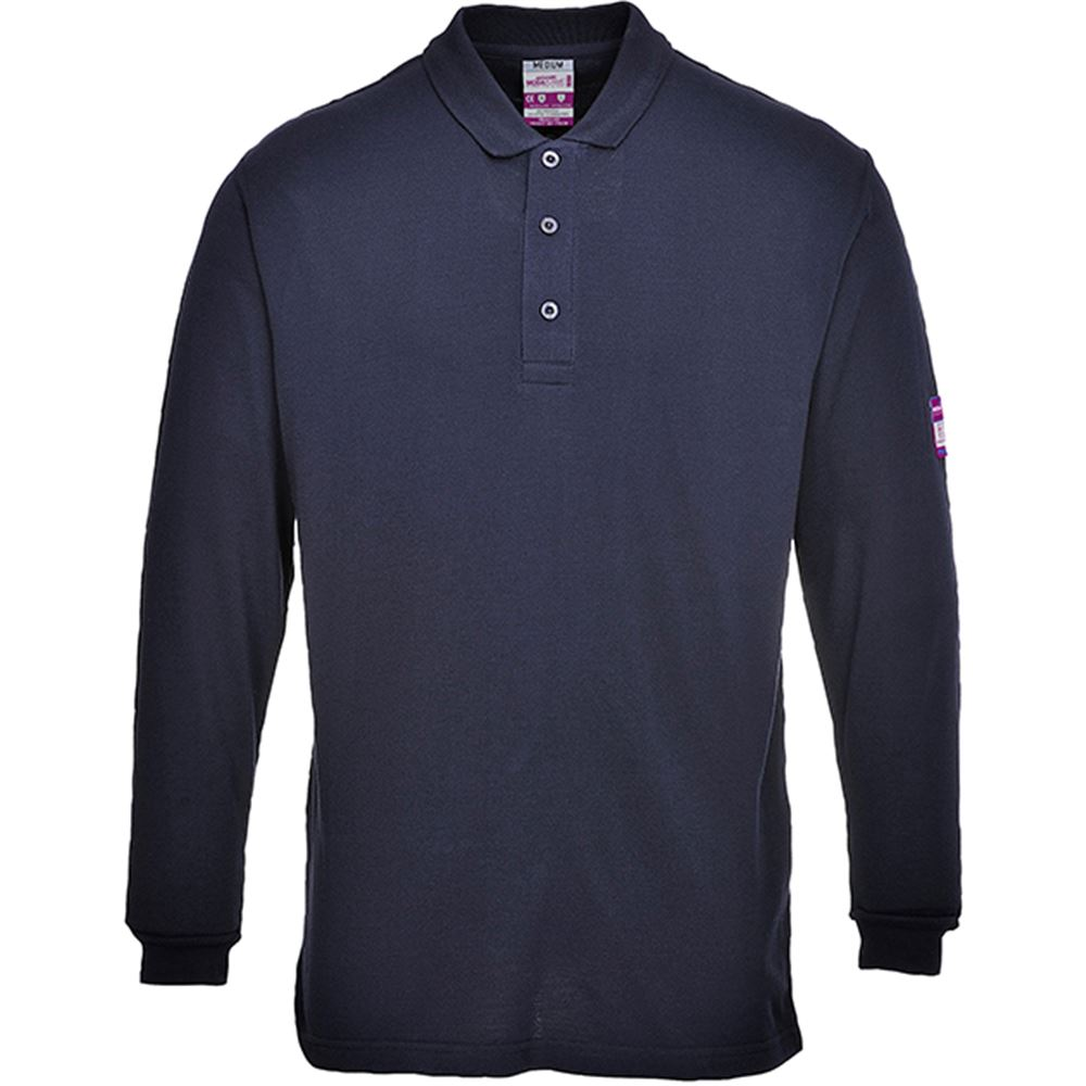 Modaflame Flame Retardant Anti Static Long Sleeve Polo