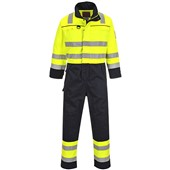 Bizflame Multi Hi Vis Flame Retardant Anti-Static Coverall