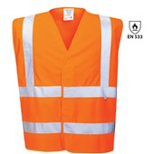 High Visibility Flame Retardant Vest Orange