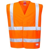 Bizflame High Visibility Flame Retardant Anti-Static Vest GO/RT Orange